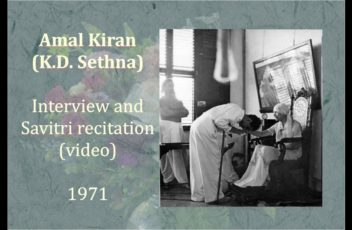 A Video Interview of Amal Kiran (1971)