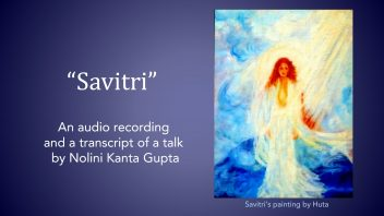 's talk on Savitri