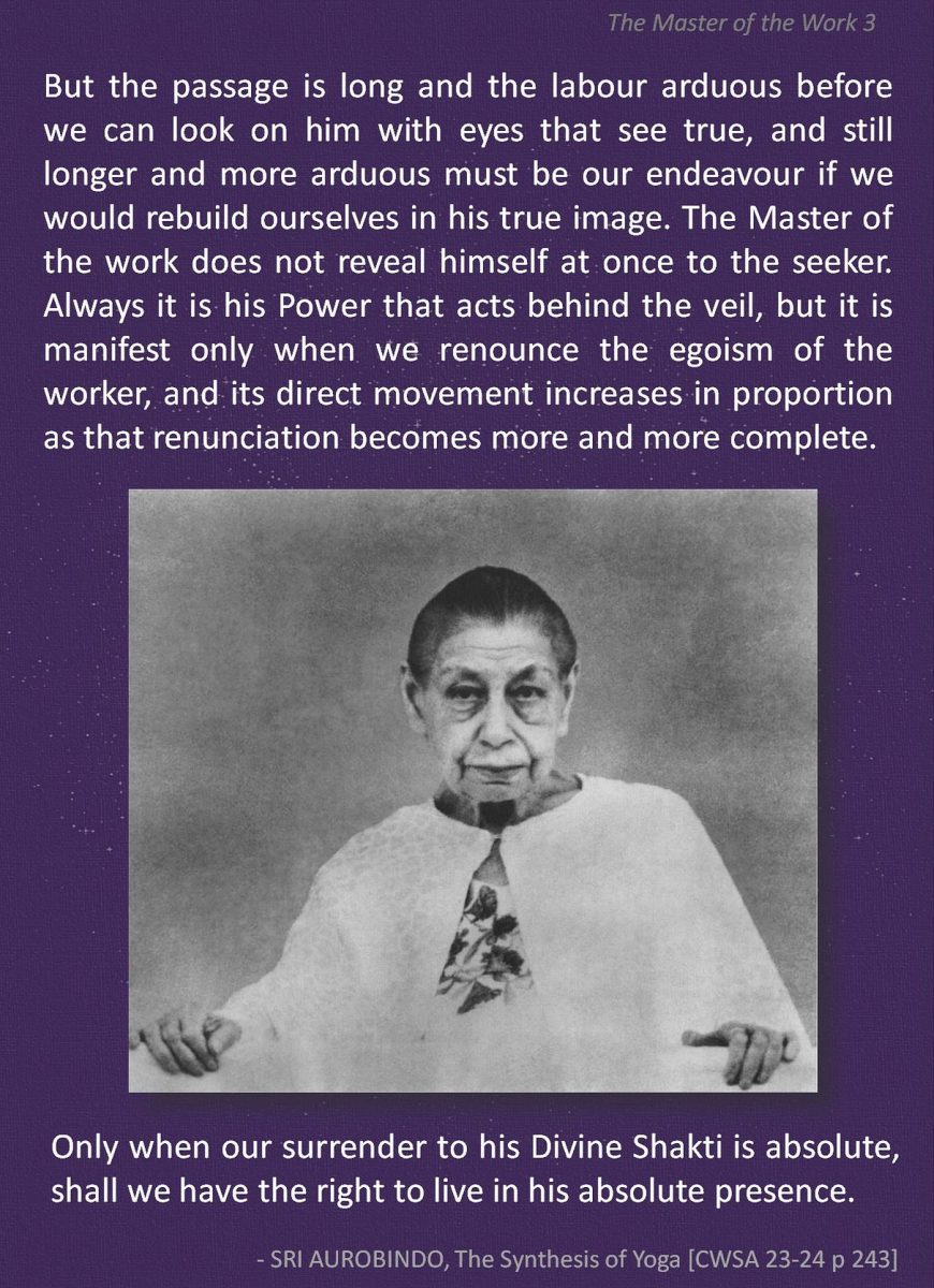 """Sri Aurobindo, from """"The Synthesis of Yoga"""""""