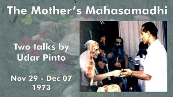 The Mother's Mahasamadhi - Udar Pinto mm