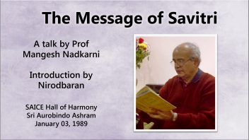 The Message of Savitri