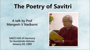 The Poetry of Savitri (HH 1989)