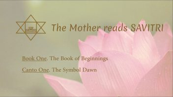 The Mother Reads Savitri cover B01C01