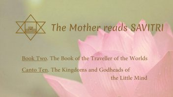The Mother Reads Savitri cover B02C10 AM