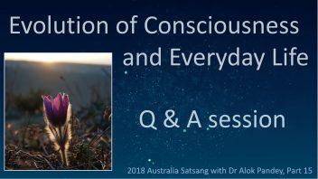 AS15 Evolution of consciousness and everyday life Q&A