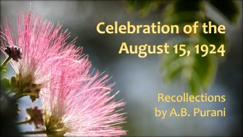 A B Purani recollections 15 08 1924