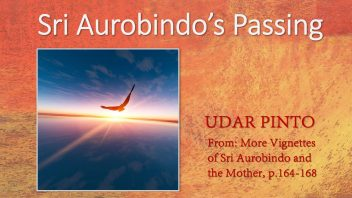 Sri Aurobindos Passing by Udar cover