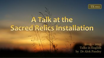 TE 011 A Talk at the Relics Installation