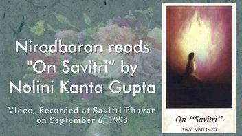 Nirod da reads On Savitri cover fin