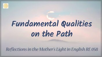 RE 058 Fundamental Qualities on the Path