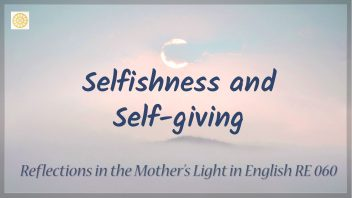 RE 060 Selfishness and Self giving
