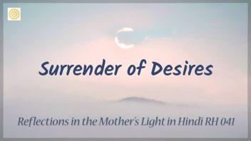 RH 041 Surrender of Desires