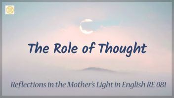 RE 081 The Role of Thought