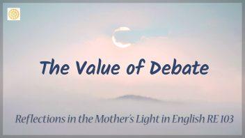 RE 103 The Value of Debate