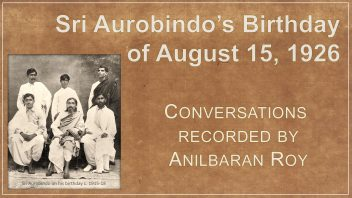Anilbaran Roy 15 08 1926