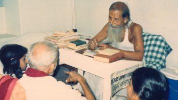 Sri Ramakrishna Das (Babaji Maharaj) sitting